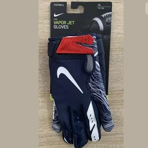 Nike Vapor Jet Patriots Skill Football Gloves Navy